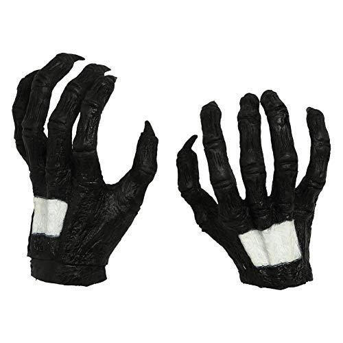 Wellgift Halloween Handschuhe Cosplay Kostüm Erwachsene Herren Schwarz Latex Krallen Fancy Dress Merchandise Kleidung Zubehör (Venom-kostüm Erwachsene Für)