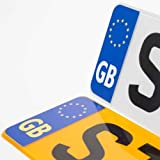 Road Legal GB Euro Symbol Car REFLECTIVE Vinyl Sticker Number Plate Decal for European Roads