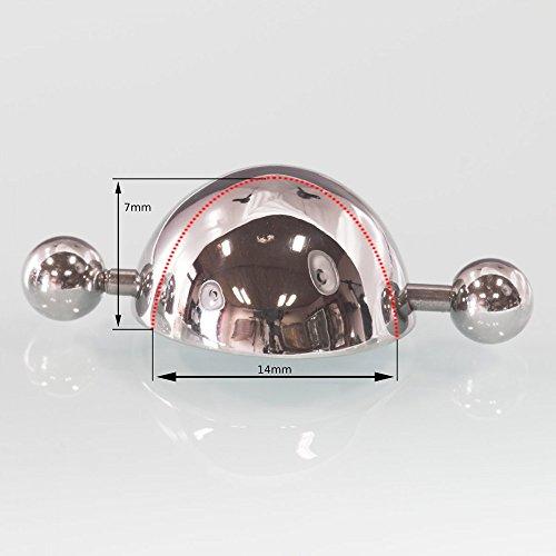 Fly Style® Nippelschild/Piercing Kappe/Brustwarzenpiercing aus 316L Edelstahl für den Herren, Durchmesser:14 mm