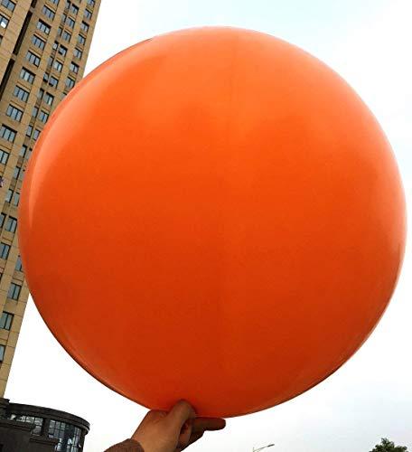 5 globos grandes - Globos redondos de 36 pulgadas - Globos extra grandes y gruesos Globos de látex gigantes reutilizables para bodas, sesiones de fotos y festivales Decoraciones navideñas (naranja)