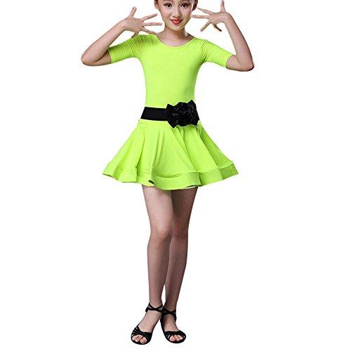 Mädchen Kostüm Indische Kleinkind - Xmiral Kleinkind Tanz Kostüme Kinder Mädchen Latin Ballett Kleid Party Dancewear Kostüm für Karneval Mottoparty(140,Grün)
