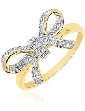 Damen-Ring 9 Karat (375) Gelbgold 38 Diamanten PR06256Y-N-p