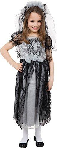 Mädchen Halloween Kostüm Party Buch Woche Tag Fee Gothik Braut Kostüm - Multi, (Kostüm Für Buch Kinder Woche)