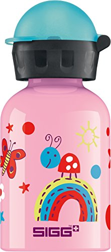 Trinkflasche Pink Sigg (SIGG Funny Insects, Kinder Trinkflasche, 0.3 L, Auslaufsicher, BPA Frei, Aluminium, Pink)