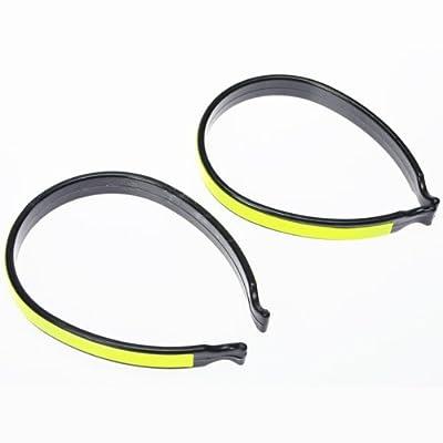 Fahrrad Hosen Klammer mit Reflektor 2-teilig neon gelb