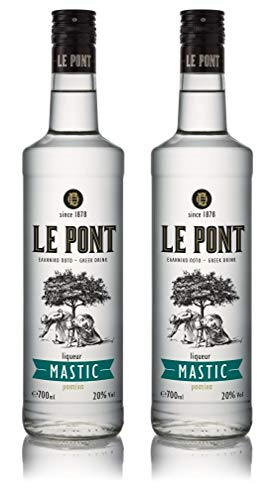 Premium Mastiha Likör   griechischer Likoer   Mastika   Masticha Chios   mild   Spirituose   Geschenk   700ml Glas Flasche (2x 700ml)