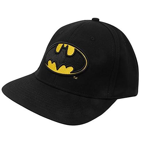 Batman Flat Peak Baseball Hat Black/Yellow Cap Headwear Adults