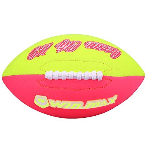 Molee Neopren American Football,Größe 6,ca.26cm x 15cm,Verbesserte Verarbeitung der Nähte und des Ventils