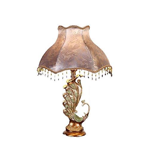 Lampada da tavolo di lusso dell'annata soggiorno illuminazione comodino luce (Ferro Battuto Tradizionale Lampada Da Terra)