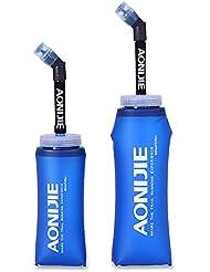 Bouteille isotherme en plastique Aonijie SD13 avec paille - Bouteille souple pour sports de plein air, marathon, cyclisme, camping, course