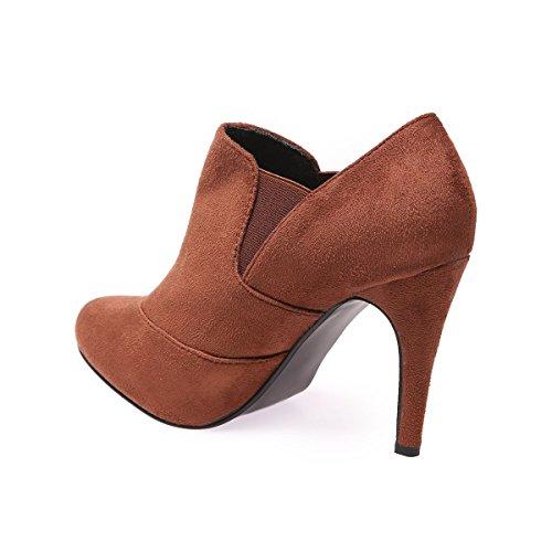 La Chaussures amp; Rouge Simili Modeuse Daim Boots Low 4xvvw7y6qp 7ZHUUwq
