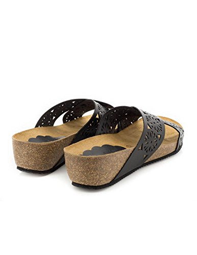 Cuir noir Sandale 11419 Dliro Noir