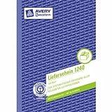 Avery Zweckform 10 x Formularbuch Lieferschein A5 vorgelocht 100 Blatt