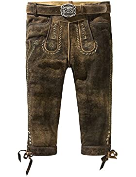 Stockerpoint - Herren Trachten Lederhose mit Gürtel in Braun antik, Johann