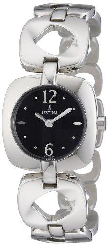 Festina F16615/4 - Reloj analógico de cuarzo para mujer con correa de acero inoxidable, color plateado