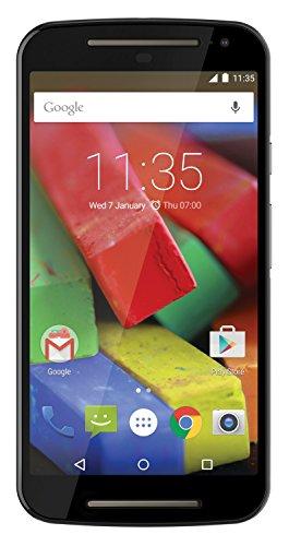 Motorola Moto G 4G (2 Generazione) Smartphone, Display 5 Pollici, LTE, Fotocamera 8 MP, Memoria 8 GB, Android 5 Lollipop, Nero [Italia]
