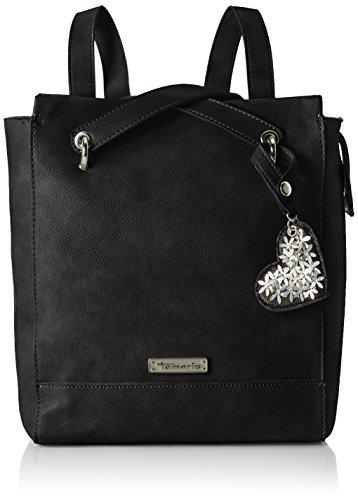 Tamaris Damen Milla Backpack Rucksackhandtasche, Schwarz (Black), 11x30x27,5 cm