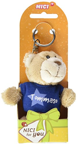 Nici n15899 - portachiavi orsetto con t-shirt tommaso, blu