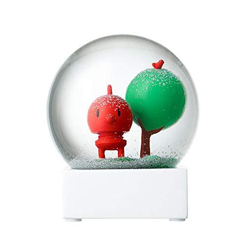 gel - Snow Globe - Red Baby Bumble - Glas, Metall und Kunststoff - Ø 10cm - Rot/Grün ()