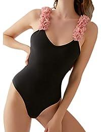 CIELLTE Femme Maillot de Bain 1 pièce Amincissante Bretelle Dos Nu Ventre  Plat Bikini de Plage 119e2e09d1c