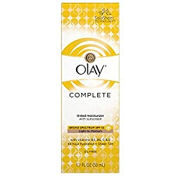Olay Complete BB Cream Skin Perfecting Tinted Moisturizer with Sunscreen, Light To Medium, 1.7 Fluid Ounce
