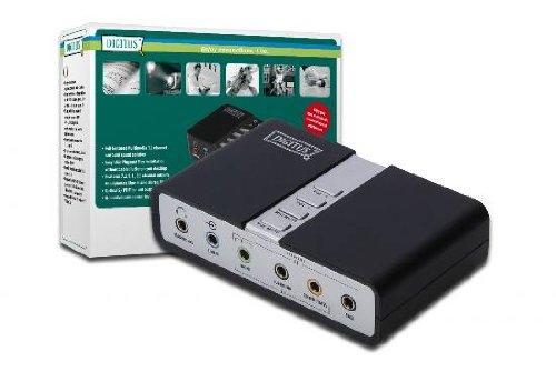 DIGITUS USB Soundbox, 7.1 Kanal, für gleichzeitige Aufnahme und Wiedergabe, schwarz