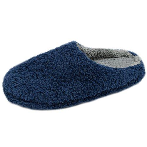 Azbro Hombre Verano Zapatillas Cómoda Casual en Casa,marino XL