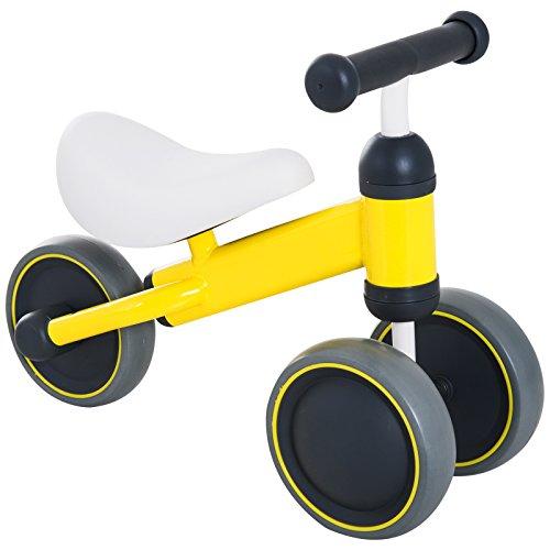HOMCOM Kids Trike Toddler 3 Wheel Ride-on Bicycle Walker Tricycle Baby Balance Bike Infant Walking Toys Yellow