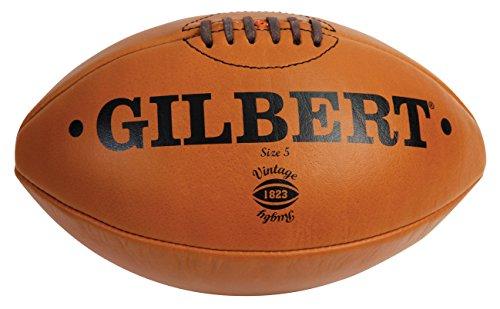 Gilbert Balón de Rugby Vintage color marrón, talla 5