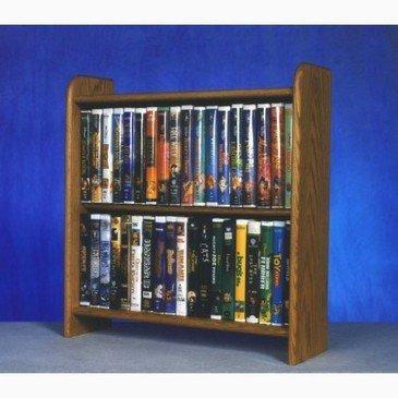 2 Shelf Media Storage (Honey Oak) by Wood Shed - Oak Media Storage