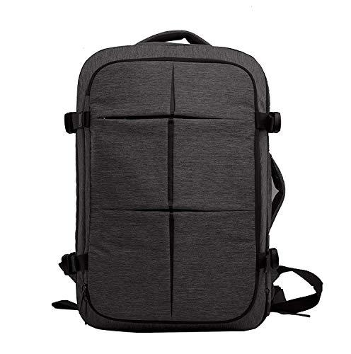 CAI Handgepäck Rucksack 40L mit 17 Zoll Laptopfach Wasserdicht Erweiterbar Herren großer Reiserucksack für Arbeit Business Reisen Schule Camping Wandern - Schwarz (Wasserdichte Wander-rucksack, 40l)