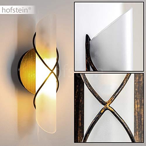 LED Lámpara de pared Palma, color dorado, 1 x E14 40W