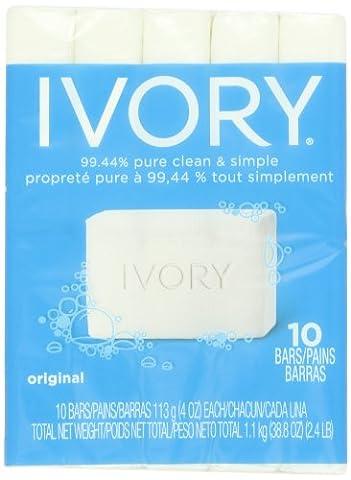 Ivory Original 10 Count Bath Size Bars 4 Oz, 38.8 Ounce