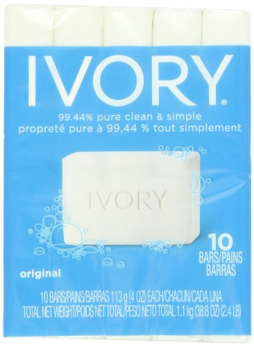 Ivory Original 10 Count Bath Size Bars 4 Oz, 38.8 Ounce