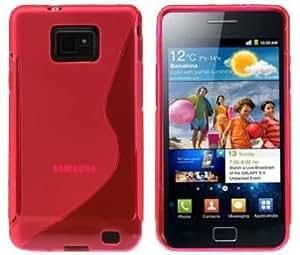 S-Line TPU SchutzHülle Silikon Hülle Schale Handy Tasche für Samsung Galaxy S2 i9100 Silikon Hülle in Rot