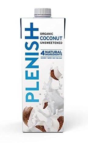 Latte di cocco biologico, Senza lattosio, Senza zucchero aggiunto 1L (Confezione da 8)
