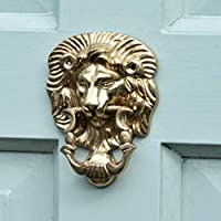 Polished Brass Cambridge Lion Door Knocker