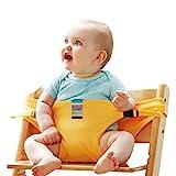 Sicherheitsgurt für Hochstuhl, Isuper Tragbarer Stuhl Gürtel für Baby Stuhl-Sitzgurt, Gelb