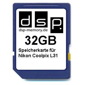 Preisvergleich Produktbild DSP Memory Z-4051557437104 32GB Speicherkarte für Nikon Coolpix L31