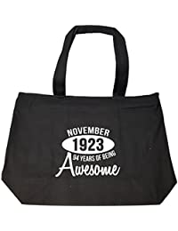 November 1923 94 Years Of Being Awesome Funny Birthday Gift - Tote Bag With Zip