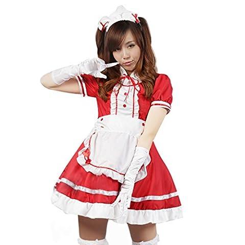 ourlove Fashion Anime Français tablier femme Costume Fancy Dress Lolita Cosplay Costume pour adulte