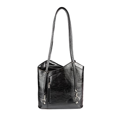 OBC Only-Beautiful-Couture, Borsa a zainetto donna Rosa rosa chiaro 27x29x8 cm (BxHxT) Nero (METALLIZZATO)
