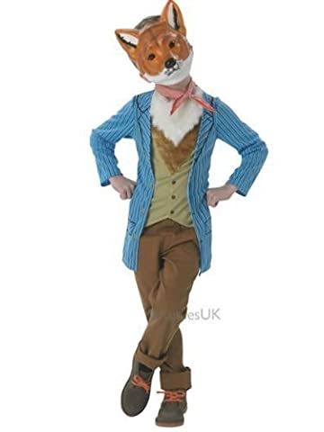 Rubie's Official Mr Fox Fancy Dress Children's Costume, 128 cm - Large, 7-8 Years