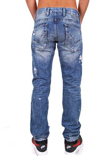 """& redbridge by cipo baxx jean pour homme r-157 """"(bleu) Bleu - Bright Blue"""