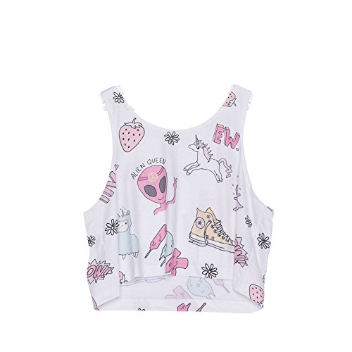 Fringoo - Débardeur - Femme multicolore Multicoloured Taille Unique Kawaii Doddle