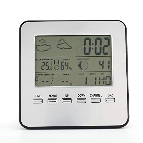 Wireless Wetterstation Wecker Outdoor Wireless Sensor Multifunktionale Indoor Outdoor Temperatur und Luftfeuchtigkeit Meter