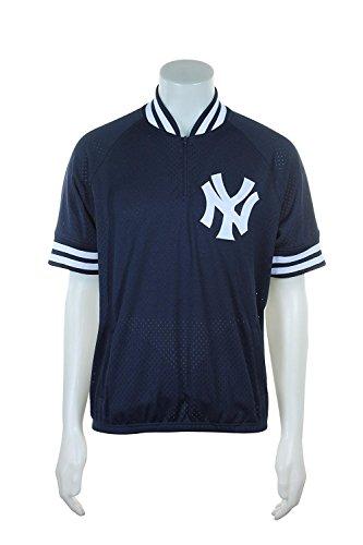 Mitchell & Ness New York Yankees MLB Herren Authentic 1/4Zip schlagübungen Jacke, Damen, Navy, 5XL - 64