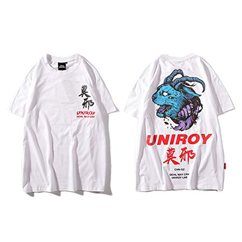 Blue Devil Men Hip Hop Camisetas Harajuku
