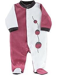 """Kinousses Grenouillères Pyjama bébé fille """"Coccinelle"""" rose"""
