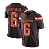 Xiaodun77 6# Mayfield Trainingstrikot Herren Rugby Fan Kurzarm T-Shirts Outdoorsport Bekleidung Ausrüstung Atmungsaktives Gewebe Sportbekleidung,Schwarz,L